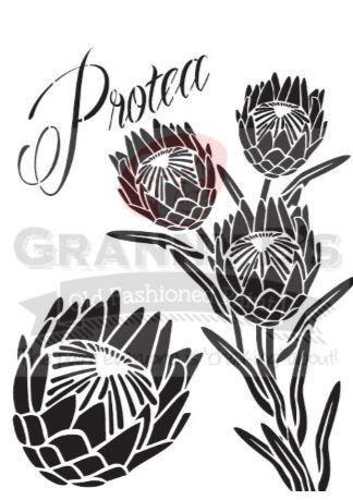 Protea Stencil Protea Art Protea Flower Stencils Printables