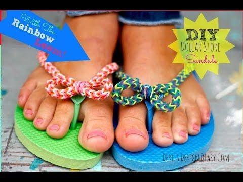 0d034ce5500 DIY Rainbow Loom Flip Flops and epic giveaway! (original concept !) -  YouTube