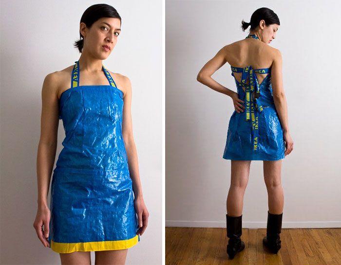 13 Idees Pour Transformer Le Sac Ikea En Vetements Et Accessoires De Mode Impressive Clothes Fashion Anything But Clothes
