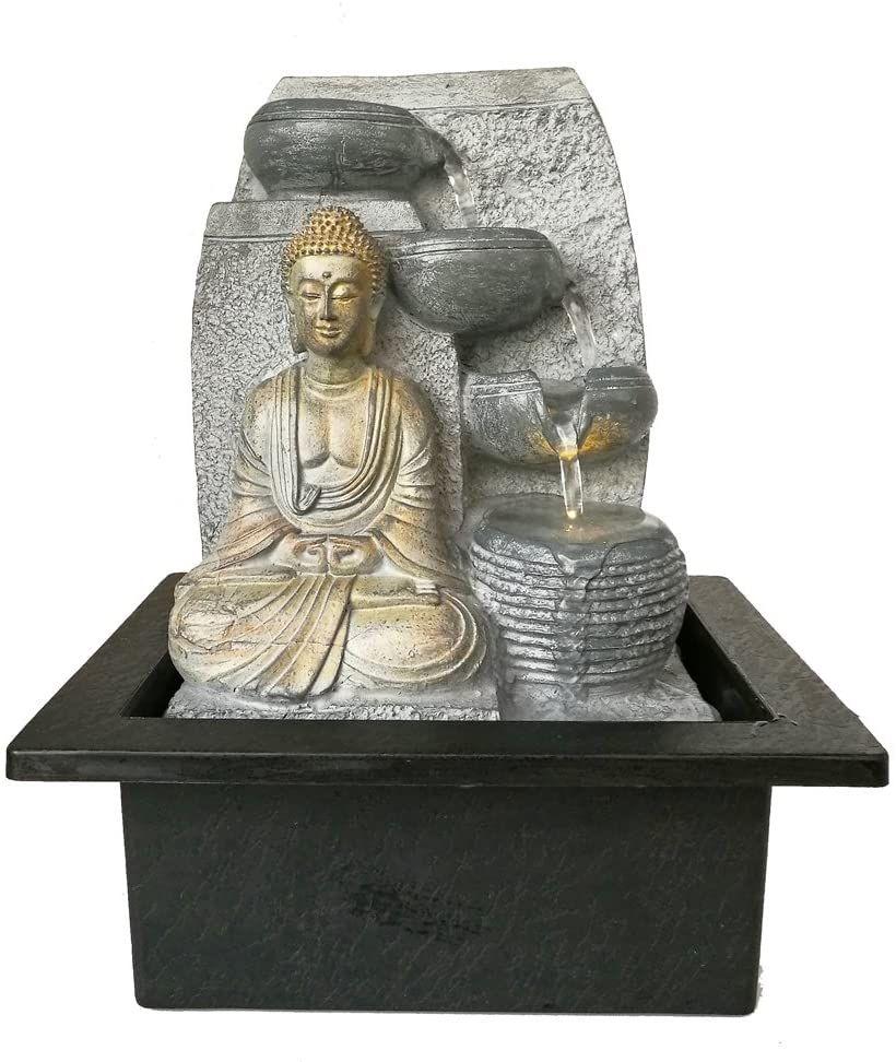 Dehner Zimmerbrunnen Steine Mit Led Beleuchtung Ca 25 X 17 5 X 21 Cm Polyresin Grau In 2020 Zimmerbrunnen Led Beleuchtung Led