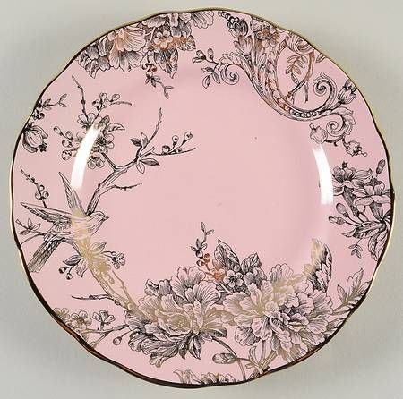 222 Fifth (PTS) Adelaide Pink Gold Salad Plate | China I love ...
