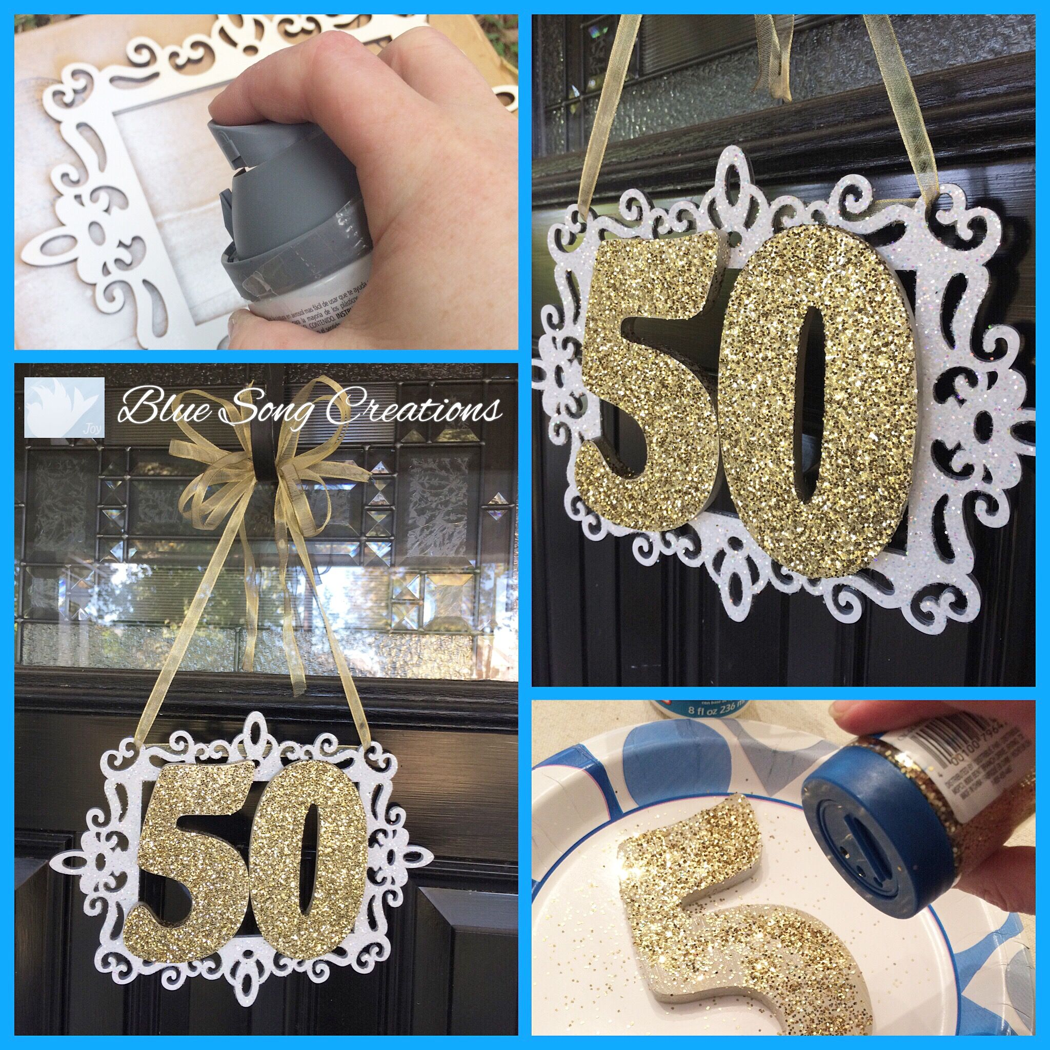 DIY 50th Wedding Anniversary Sign Created By Blue Song Creations M