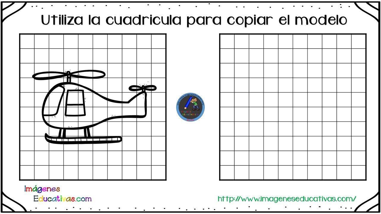 30 Fichas para mejorar la atención dibujamos con cuadricula ...
