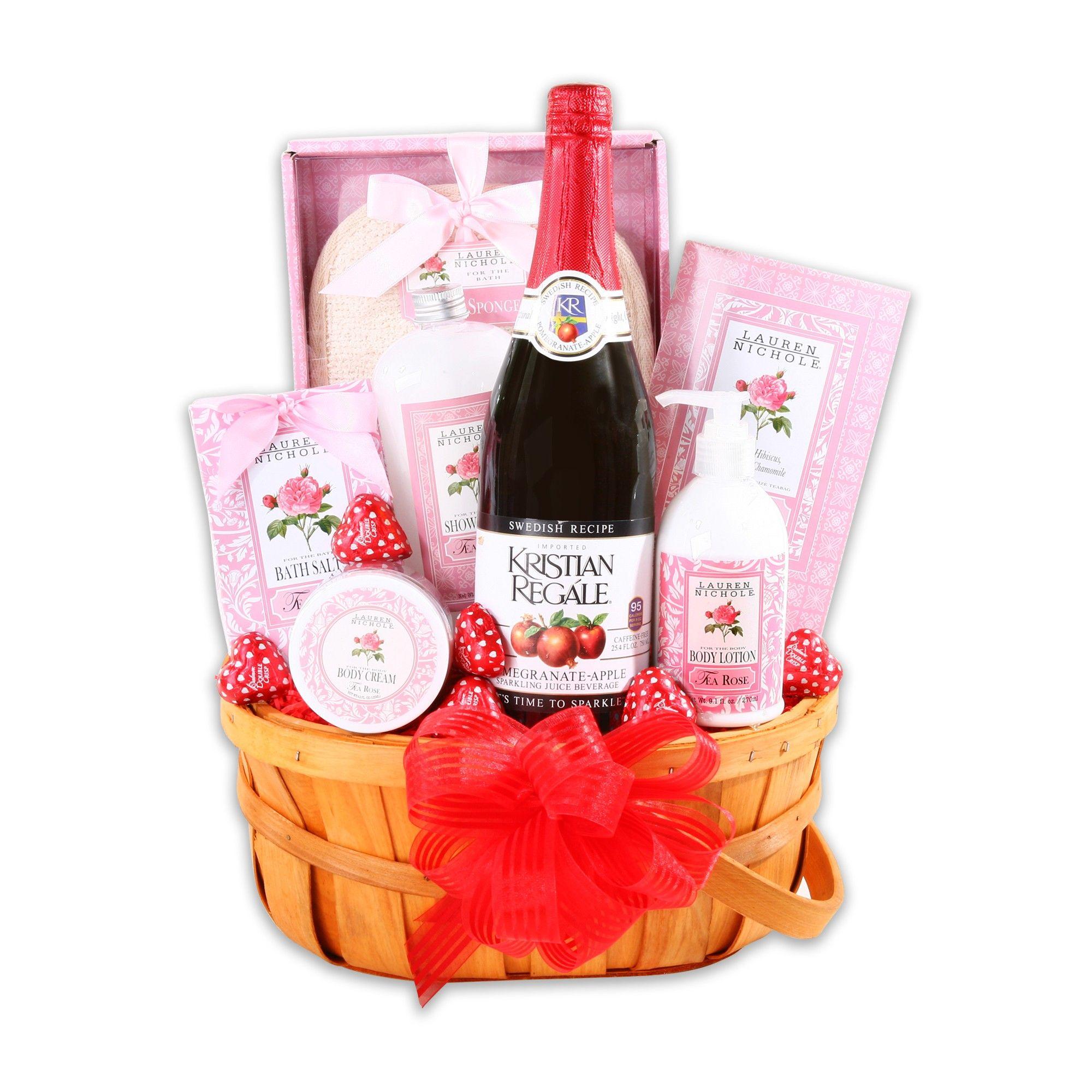 Alder creek gift basket valentines love relaxation gift