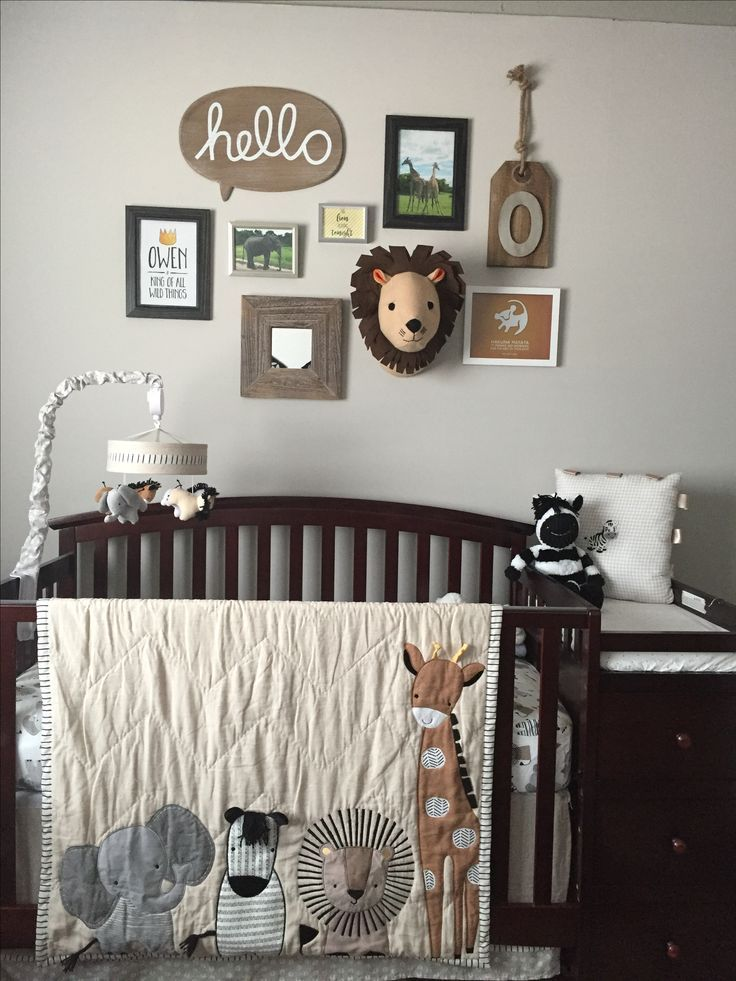 Baby Boys Nursery Theme Grey Black White Brown And Yellow