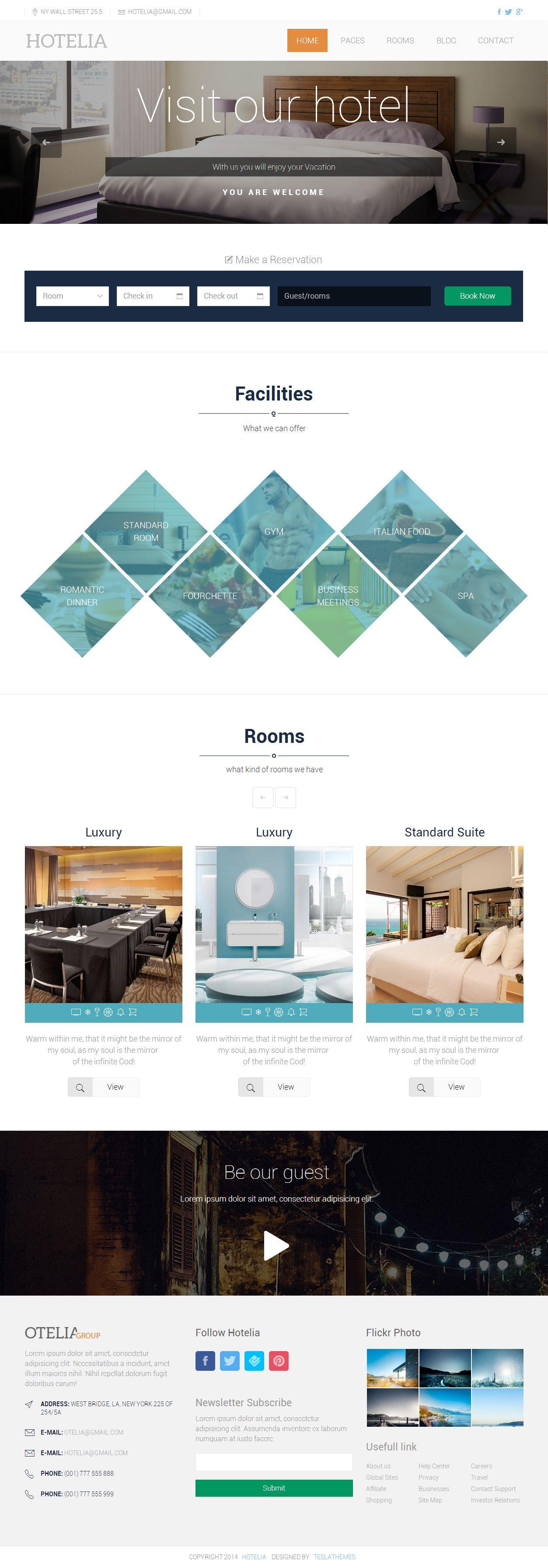 Hotelia Premium Responsive Hotel Html5 Themplate Responsive