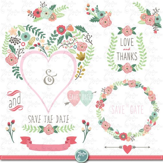 a vector of rustic floral frame elements
