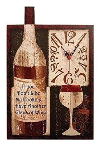 Manual Time Well Spent Good Wine And Food Wall Clock 10 X 1514inch