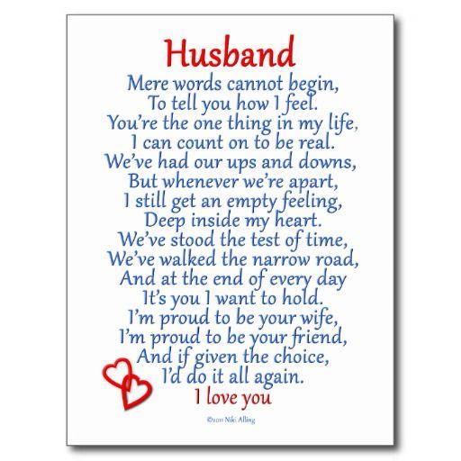 Husband Love Postcard Zazzle Com Husband Quotes Love My