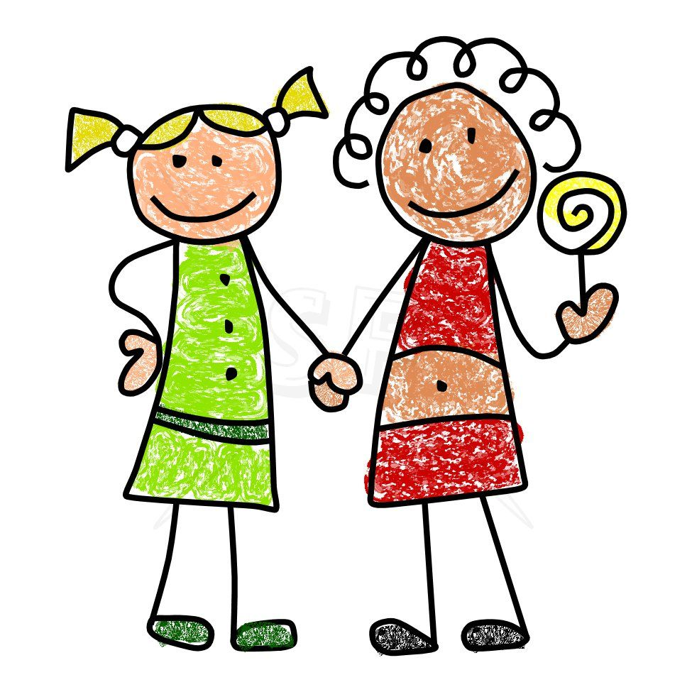 Stick Figure Cuties in black and whiteThis little set of clip art ...