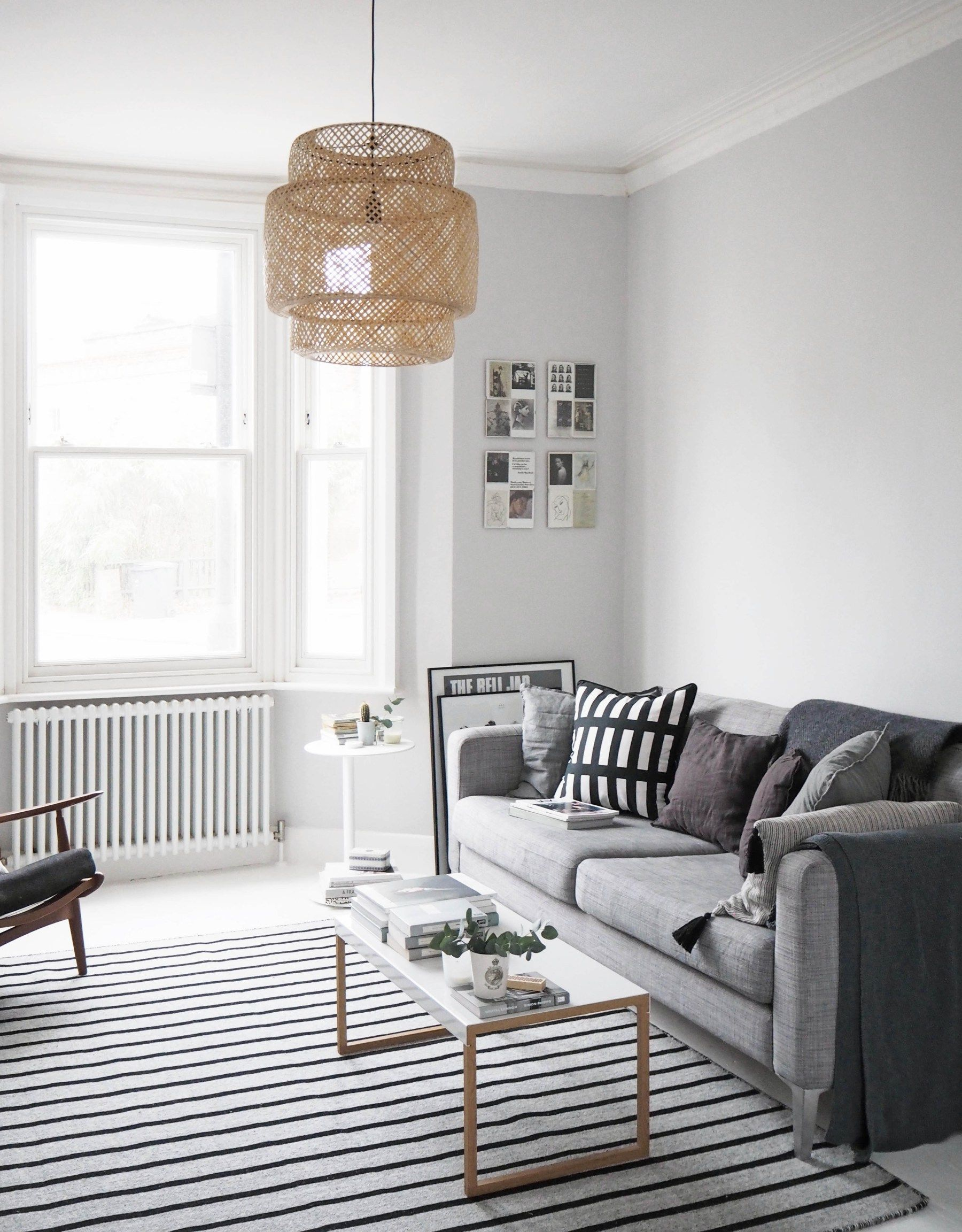 My Scandistyle living room makeover painted white