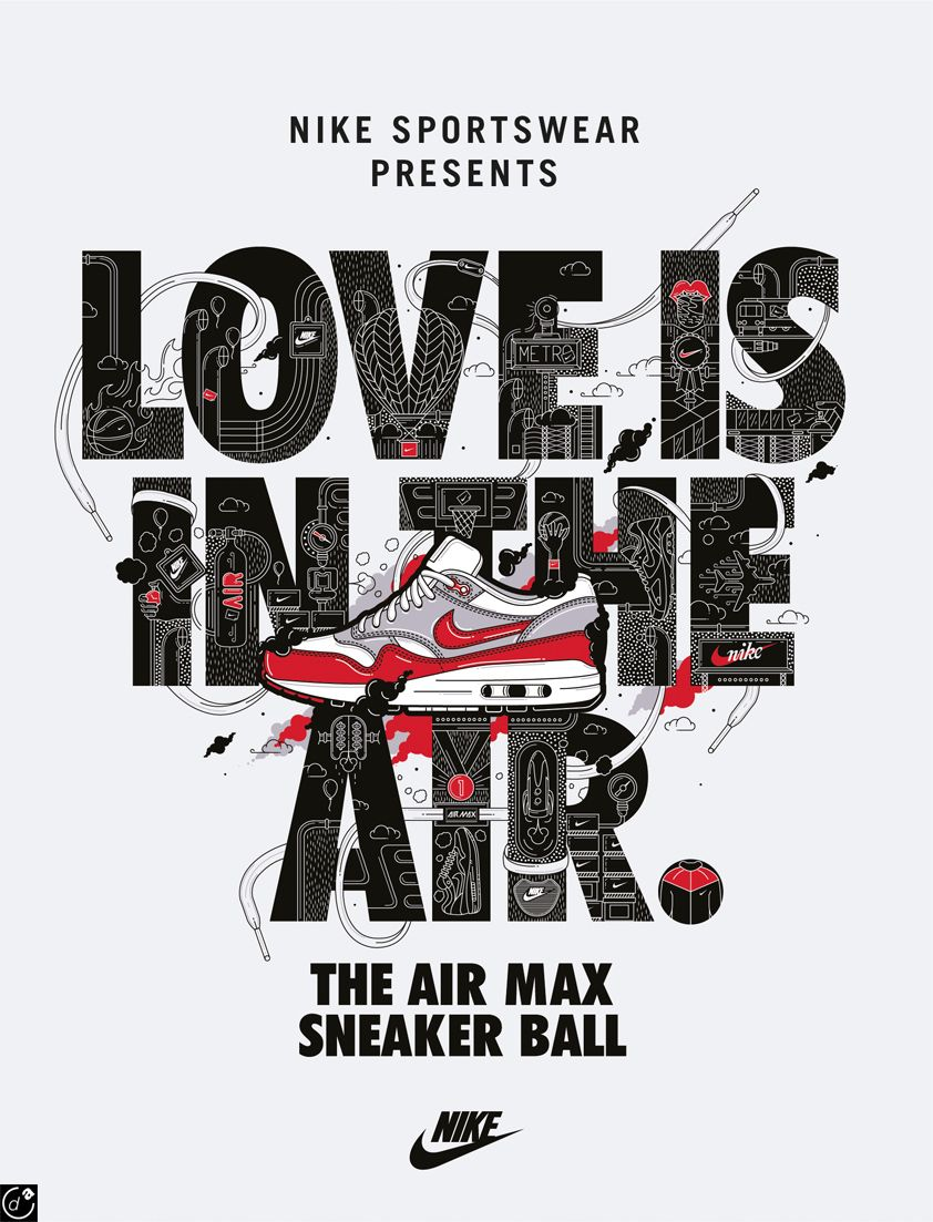huge inventory cbf31 45a01 Love is in the AIR - NIKE Poster