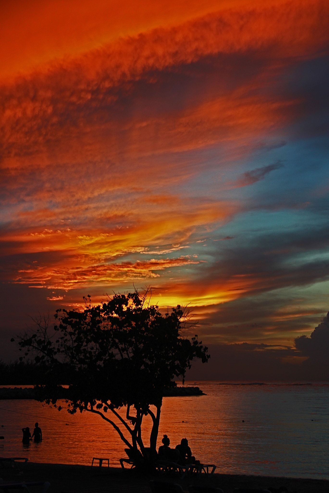 Mobay Sunset Sunset Over Montego Bay Jamaica When Christopher