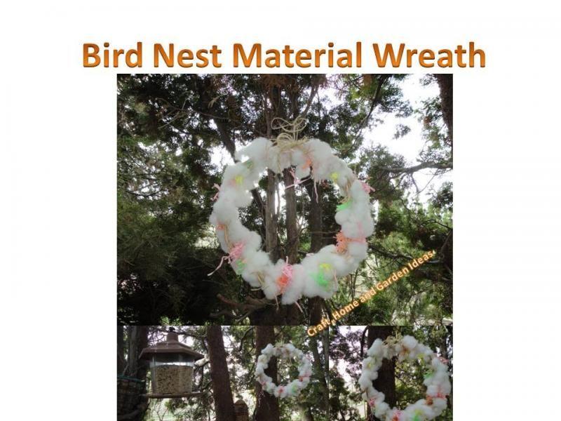Craft Home And Garden Ideas Part - 23: Craft, Home And Garden Ideas - Bird Nest Material Wreath