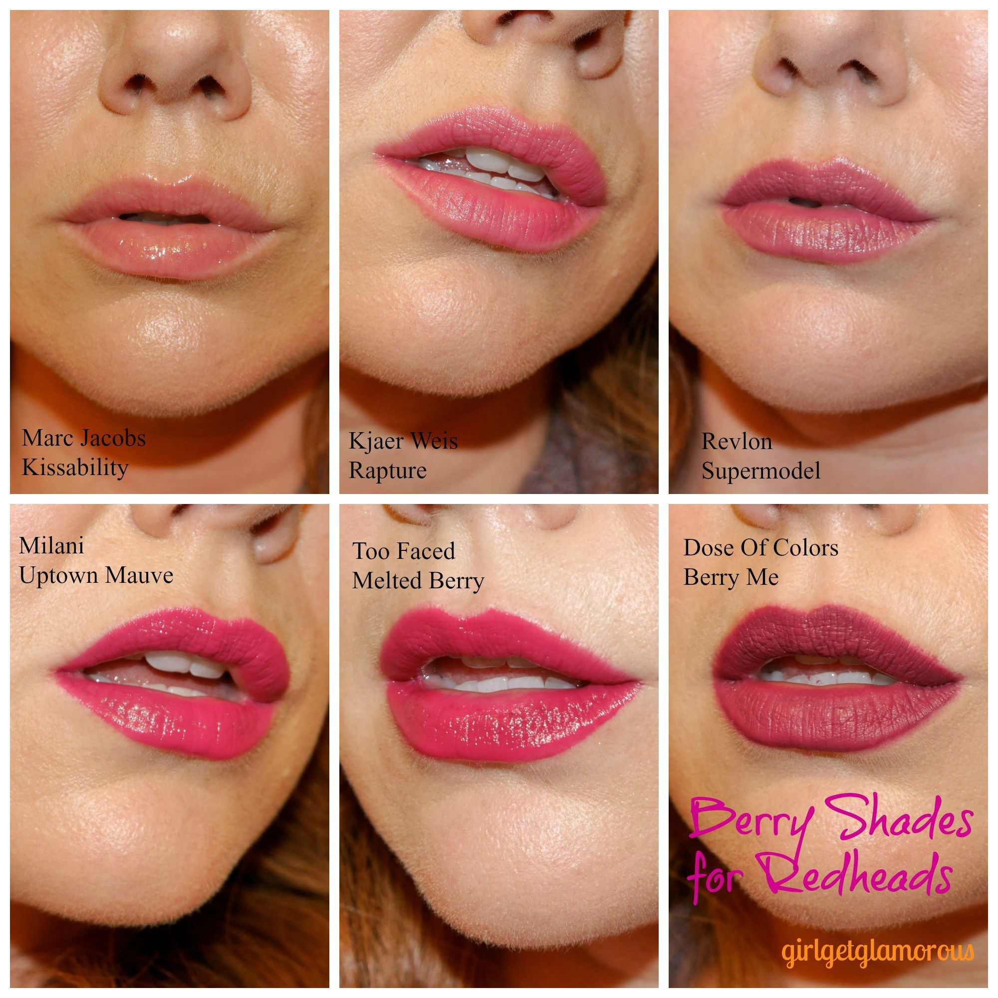 The Best Berry Lipsticks For Fair Skin Redheads Fair Skin