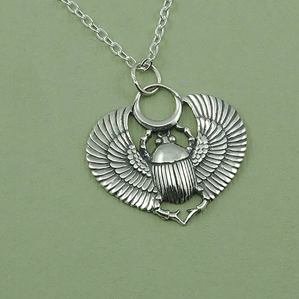 Necklace egyptian beetle jewelry sterling silver scarab pendant scarab necklace egyptian beetle jewelry sterling silver scarab pendant aloadofball Gallery