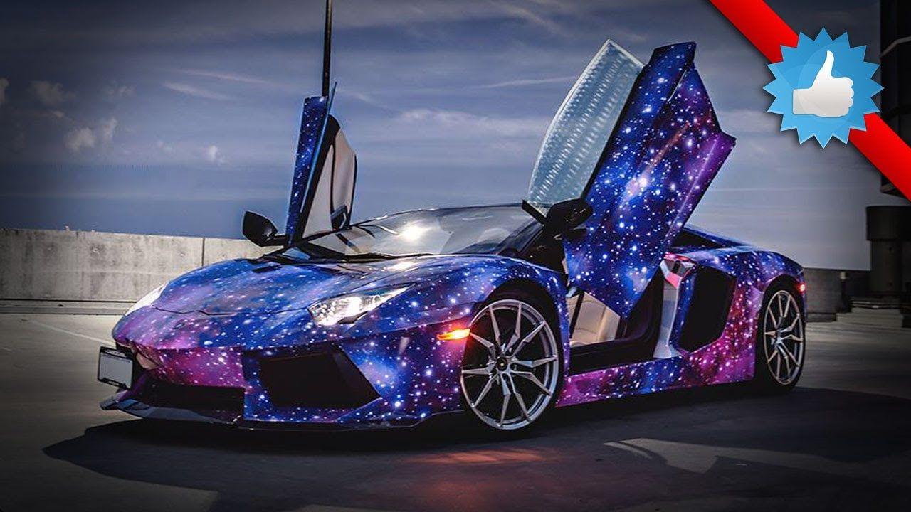 Canadian Lamborghini Aventador Roadster: Galaxy Themed Wrap   YouTube