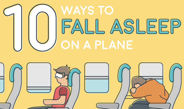 10 Easy Ways to Fall Asleep on a Plane [Infographic]