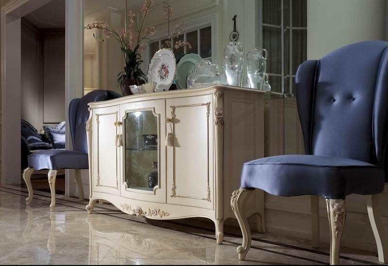YM057 elegante blanco marfil neoclásico comedor aparadores armario ...
