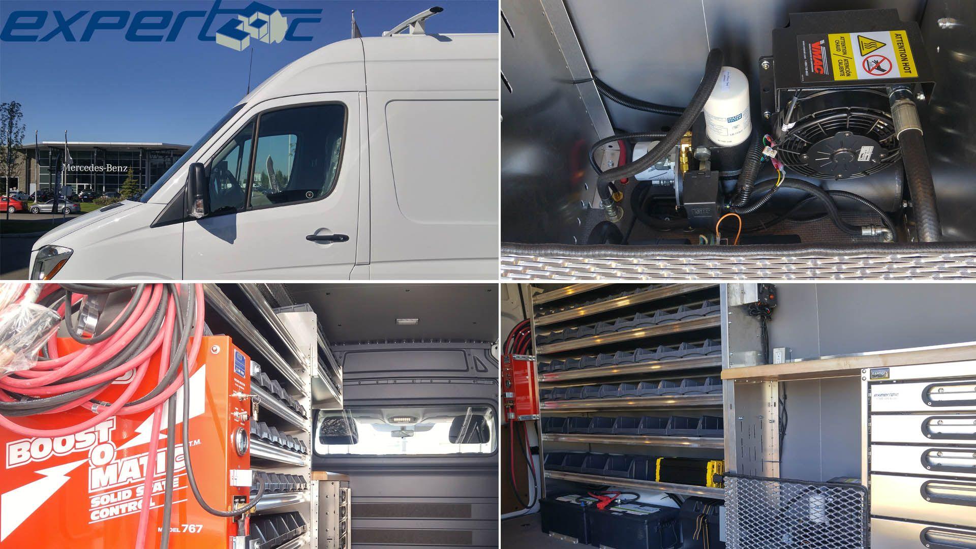 We outfitted this MercedesBenz Edmonton West Sprinter Van