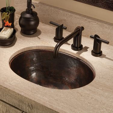 Native Trails Cps248 Oval Antique Drop In Or Undermount Sink 17 X