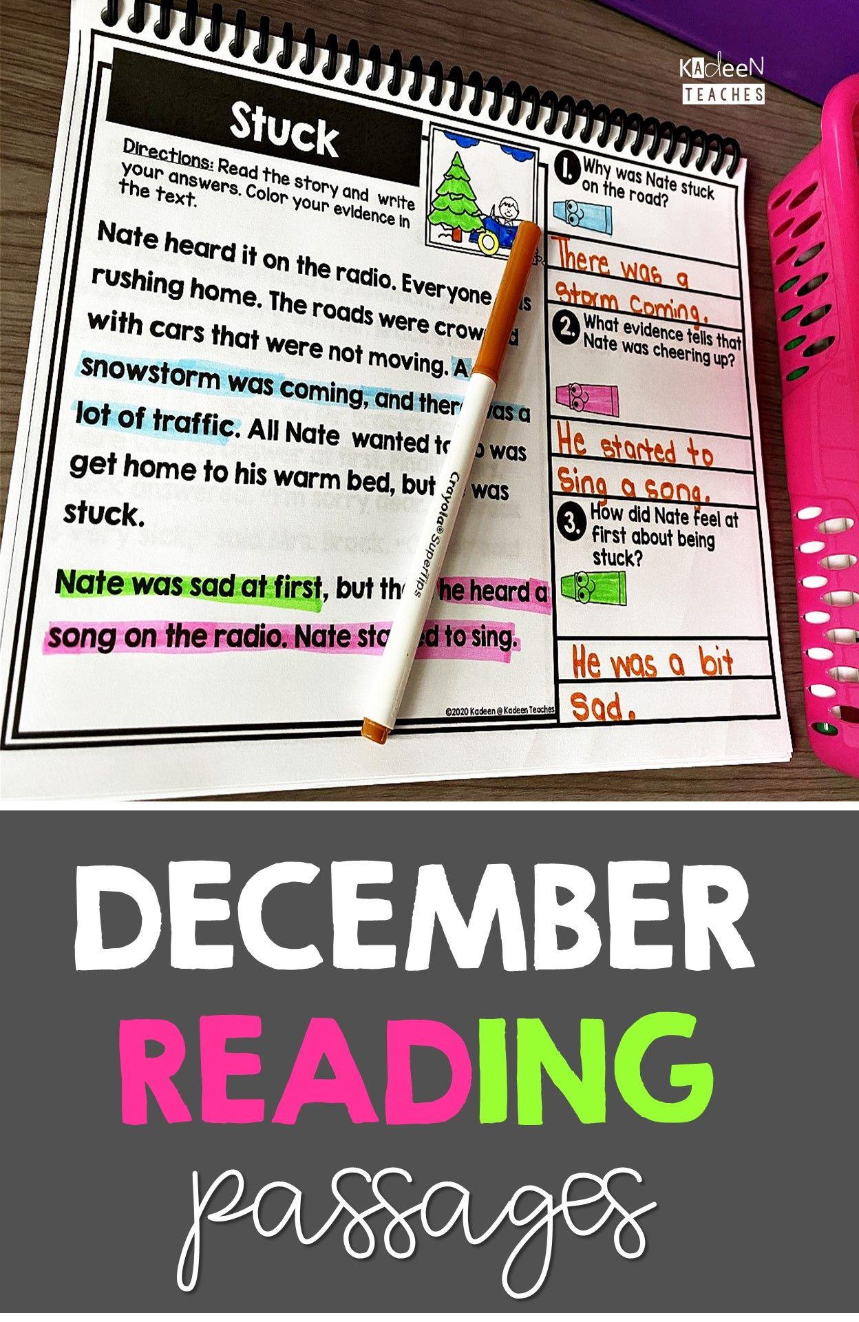 December Reading Comprehension Reading Comprehension Reading Comprehension Passages Comprehension Passage [ 1920 x 1248 Pixel ]