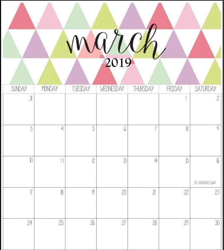 March 2019 Calendar 11x8.5