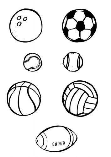 Sports Balls Coloring Page Sports Coloring Pages Coloring