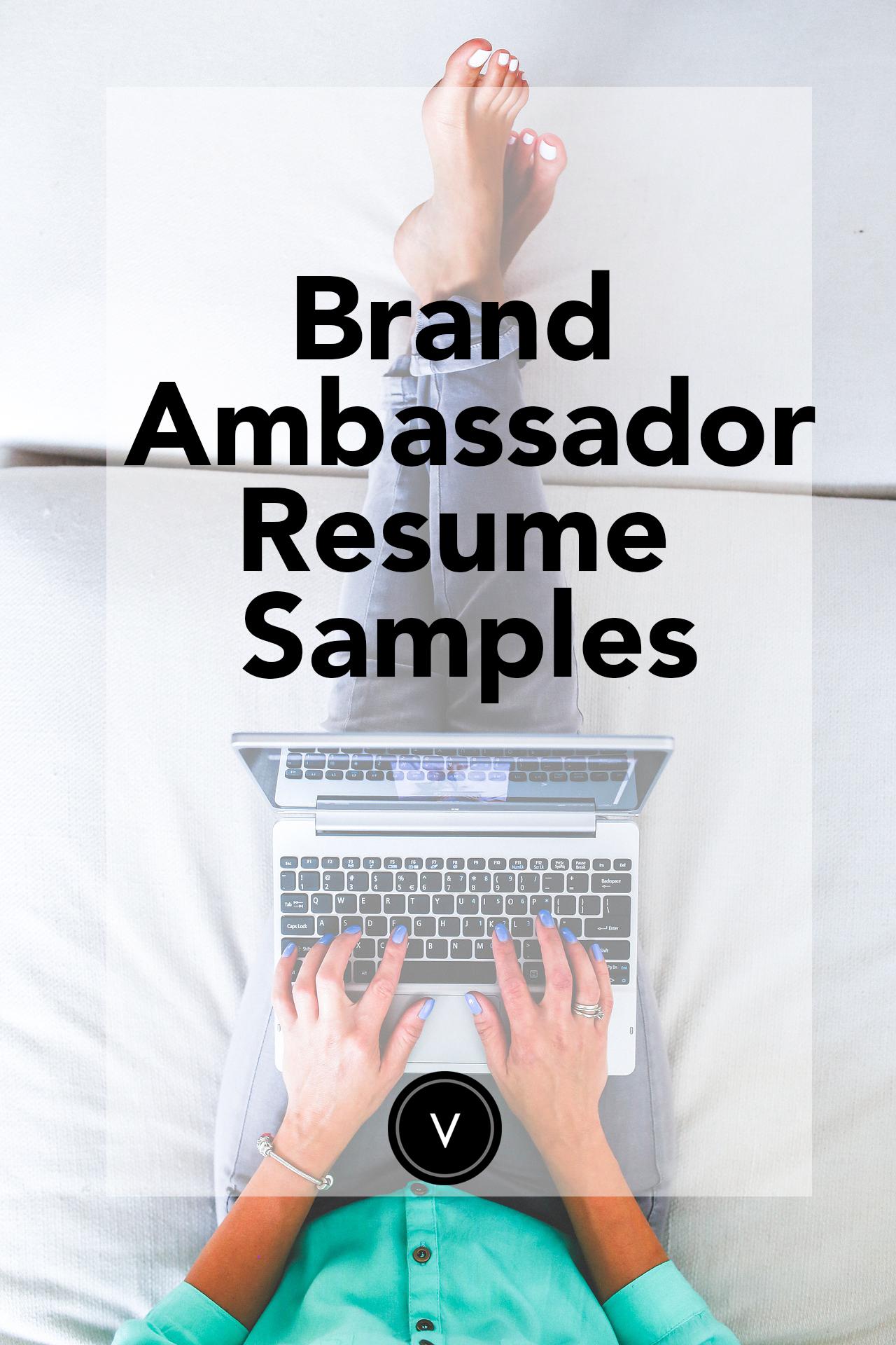 Brand Ambassador Resume Sample Brand ambassador jobs