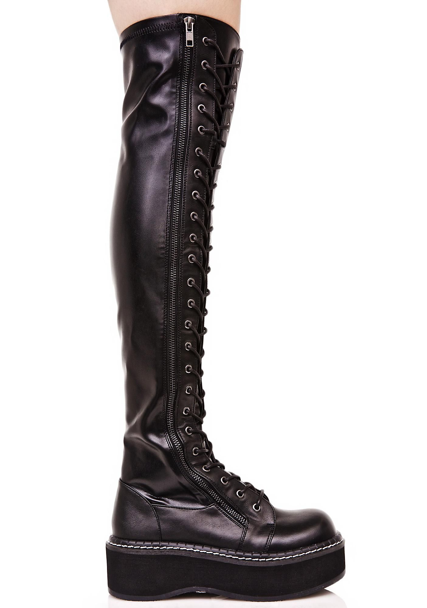 9f984de7050 Demonia Hellraiser Lace-Up Boot