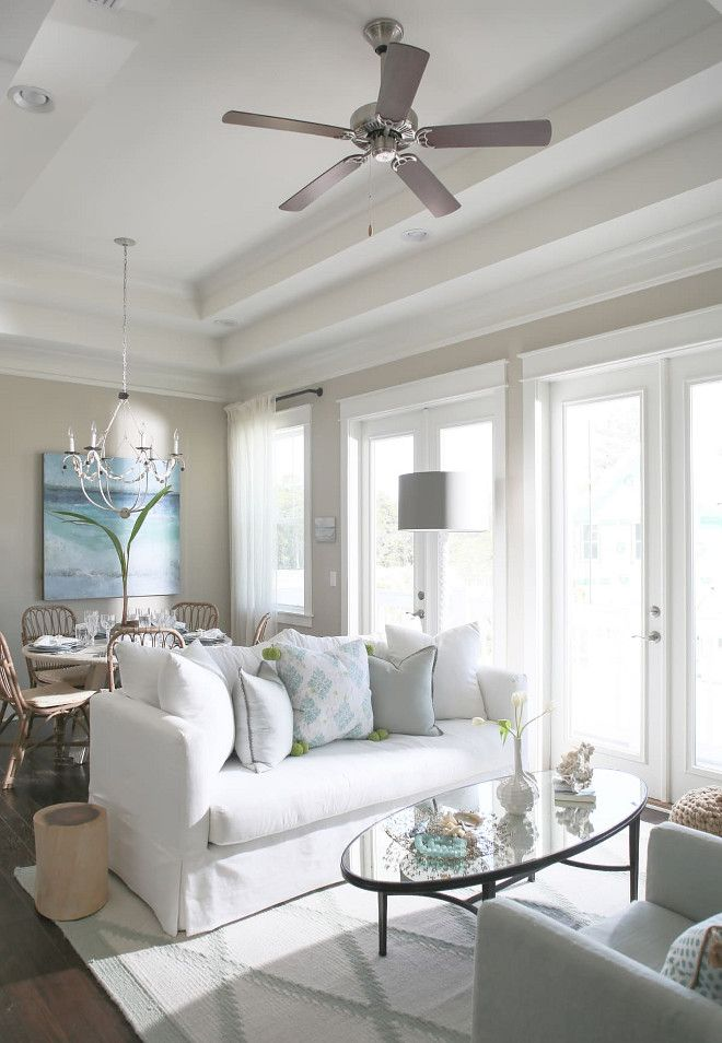 beach cottage with small neutral coastal interiors home on beach house interior color schemes id=97251