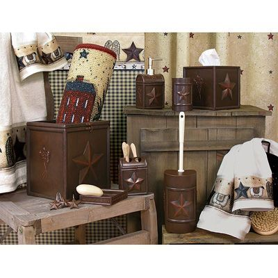 Interior Country Bathroom Accessories primitive bathroom ideas on pinterest decor blonder home expressions country treasures bath accessory collection
