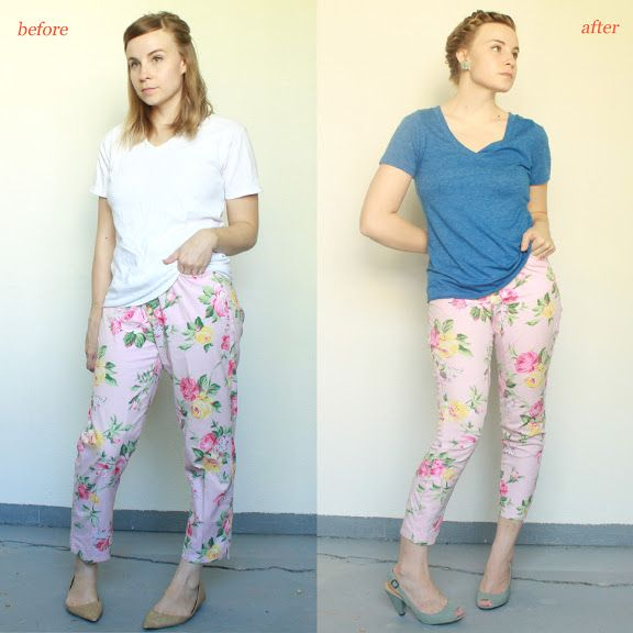 Über Chic for Cheap: Refashion: Floral Skinny Pants
