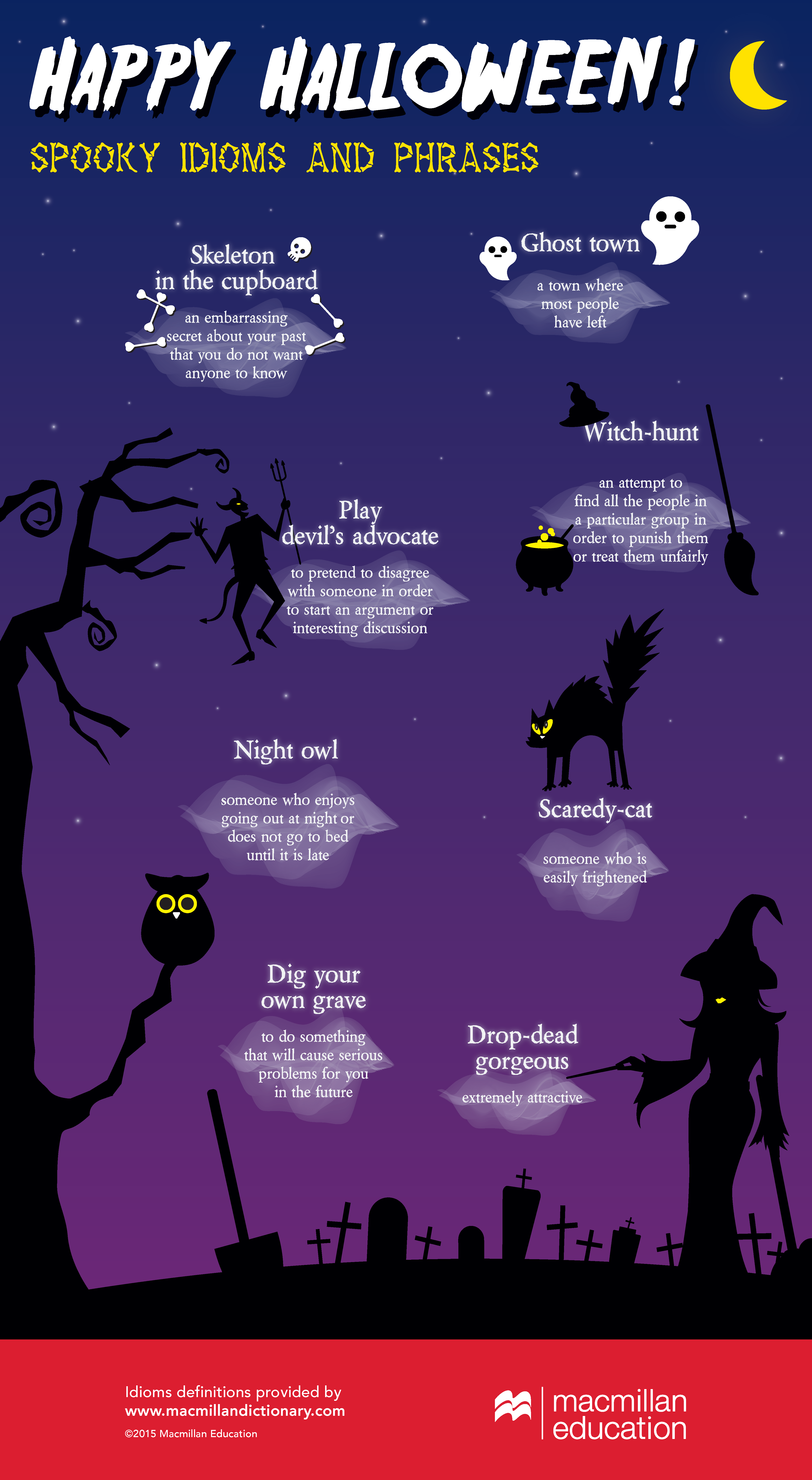 Sooky Idioms And Phrases Just In Time For Halloween Via