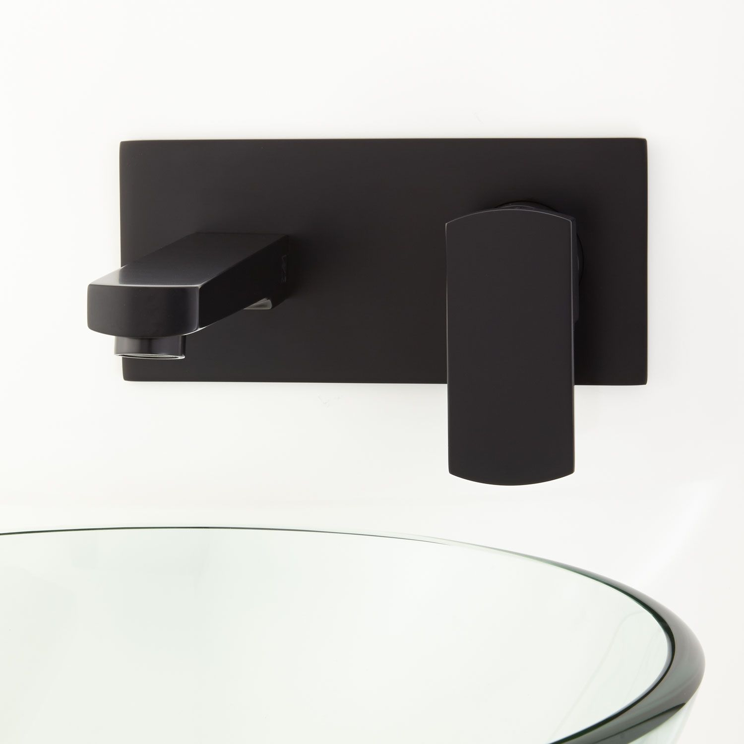 Altus Wall-Mount Bathroom Faucet with Square Base and Pop-Up Drain ...