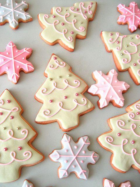 Pretty Christmas cookies Recipes Pinterest Christmas cookies