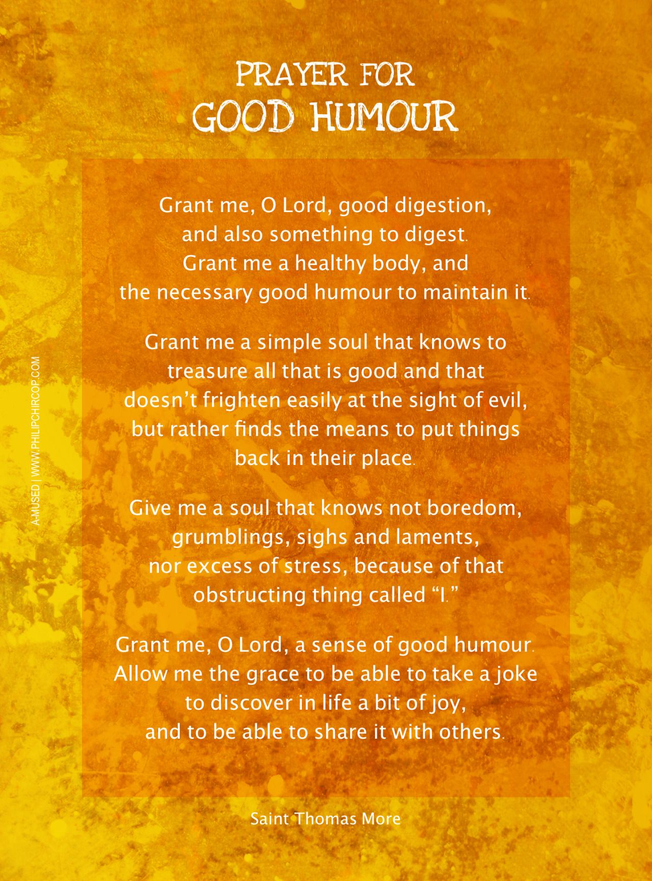 Good Humor Quotes: Prayer Sir Thomas More Good Humor