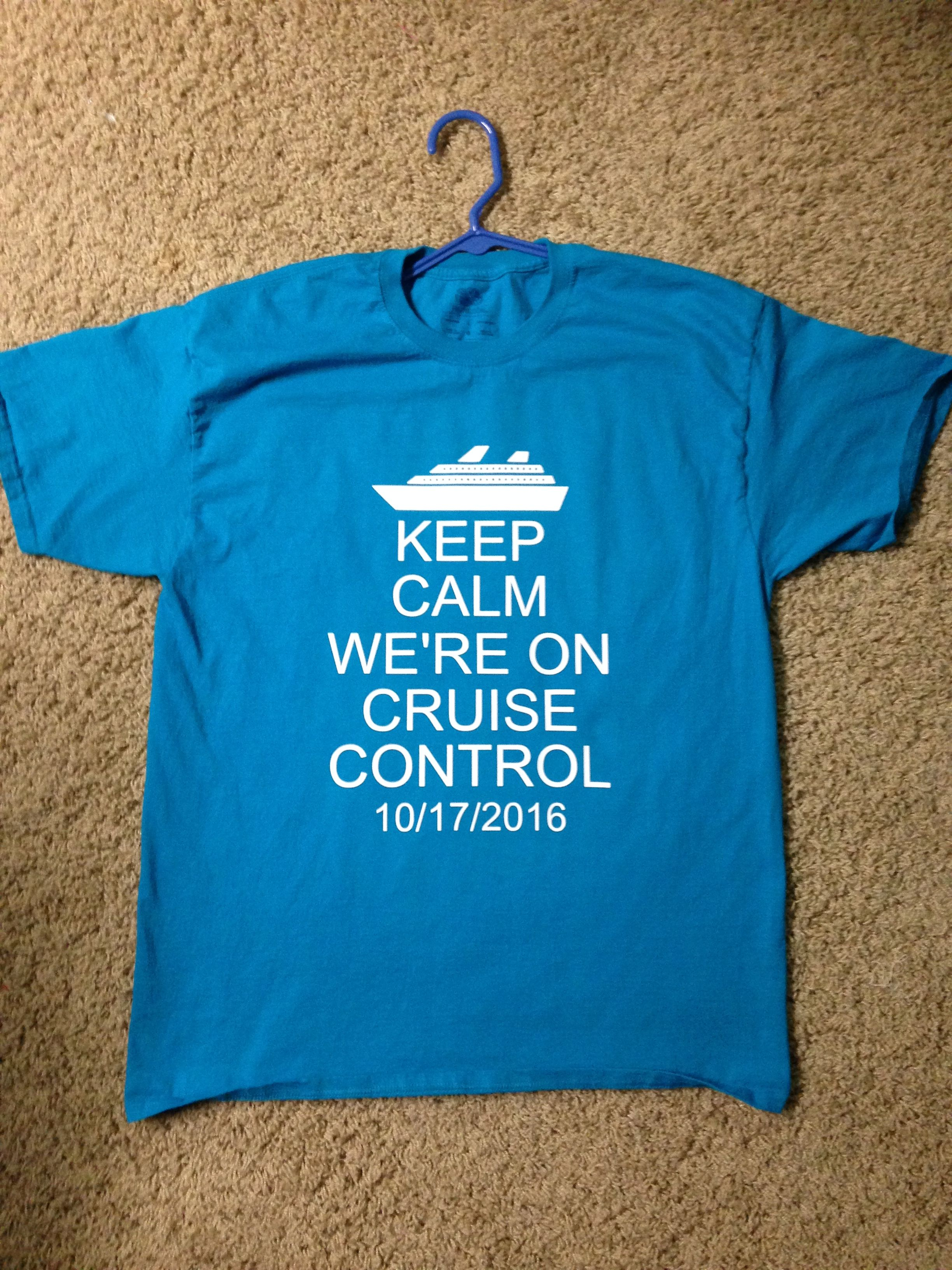 113b45100 Making these for our friends who will be going on their first cruise.  Cruise t-shirt made with Silhouette.