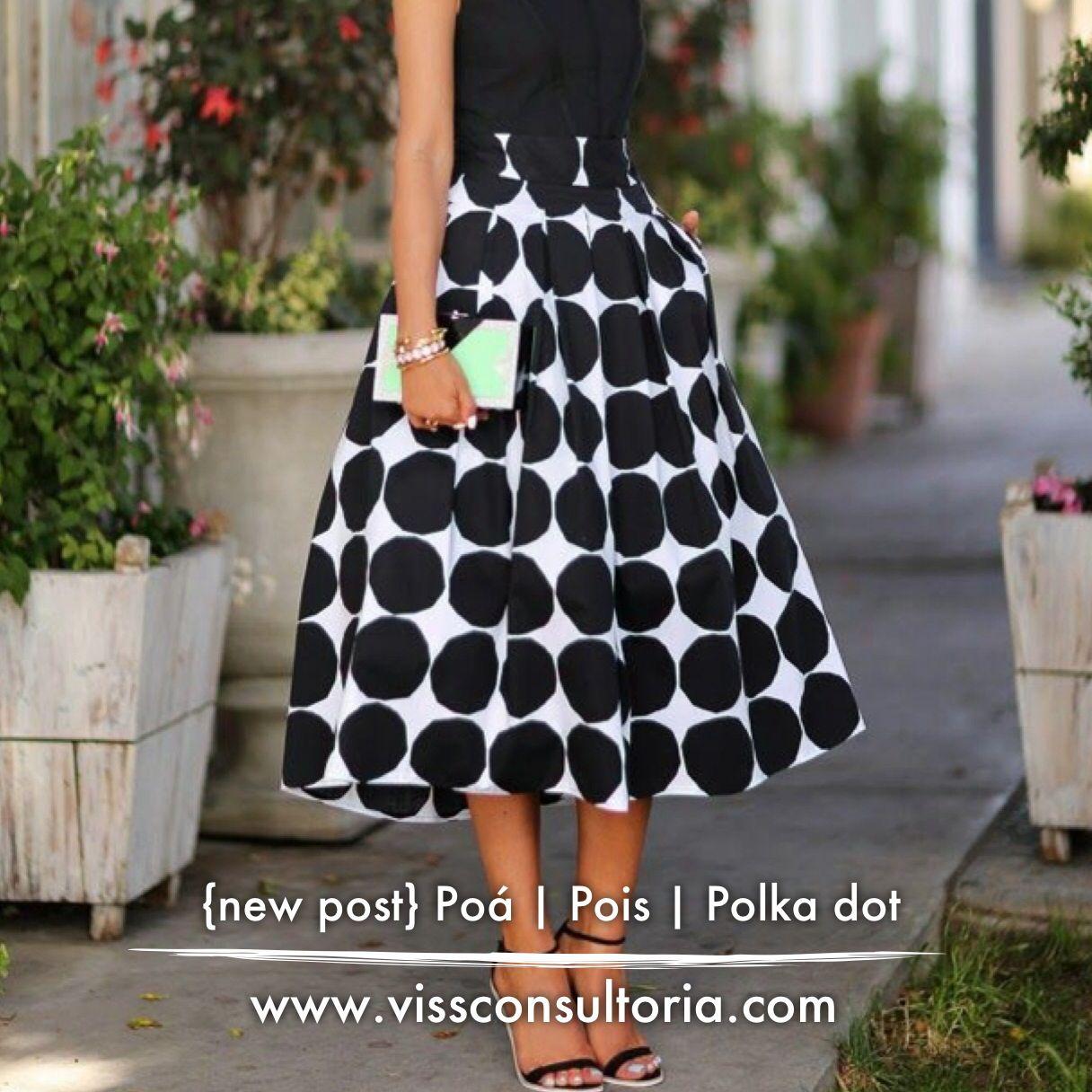 Post sobre COMO USAR poá   pois   Polka dot #fashiontips