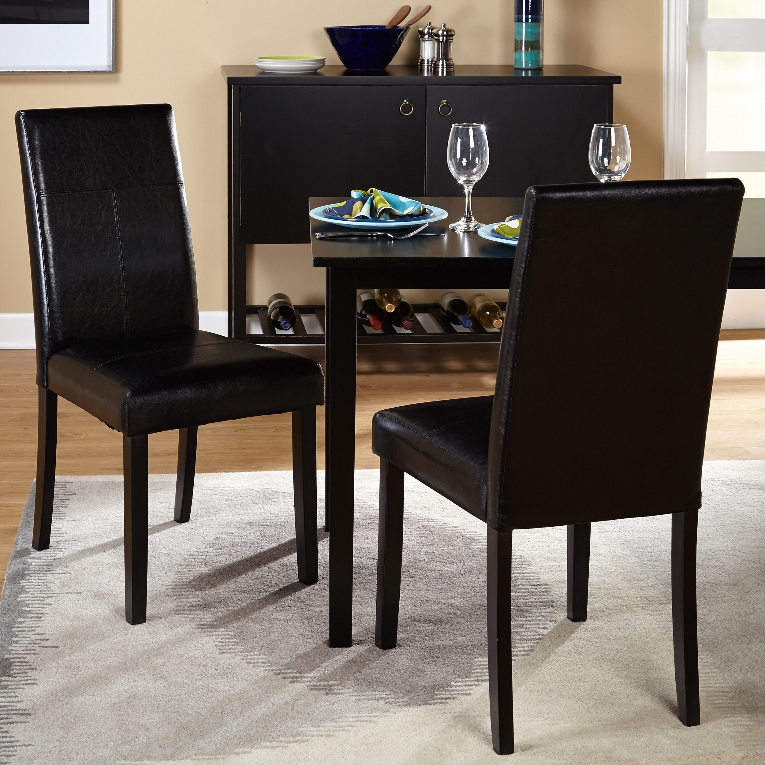 Simple Living Bettega Parson Chair (Set of 2) | Overstock.com Shopping - The Best Deals on Dining Chairs