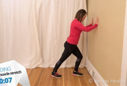 standing calf muscle stretch  arthritis exercises knee