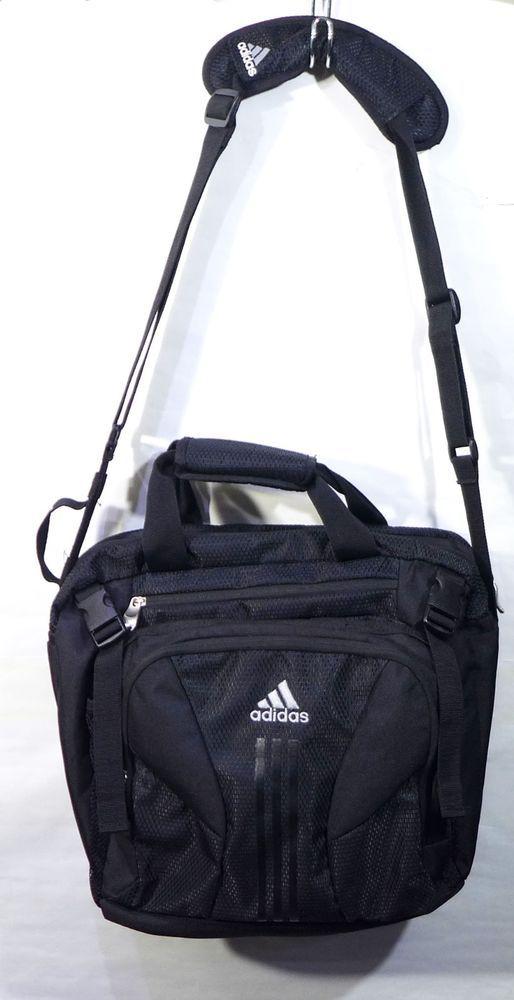 8a49ec2d9b Black Adidas Laptop Bag Case Messenger Shoulder Bag Load Spring