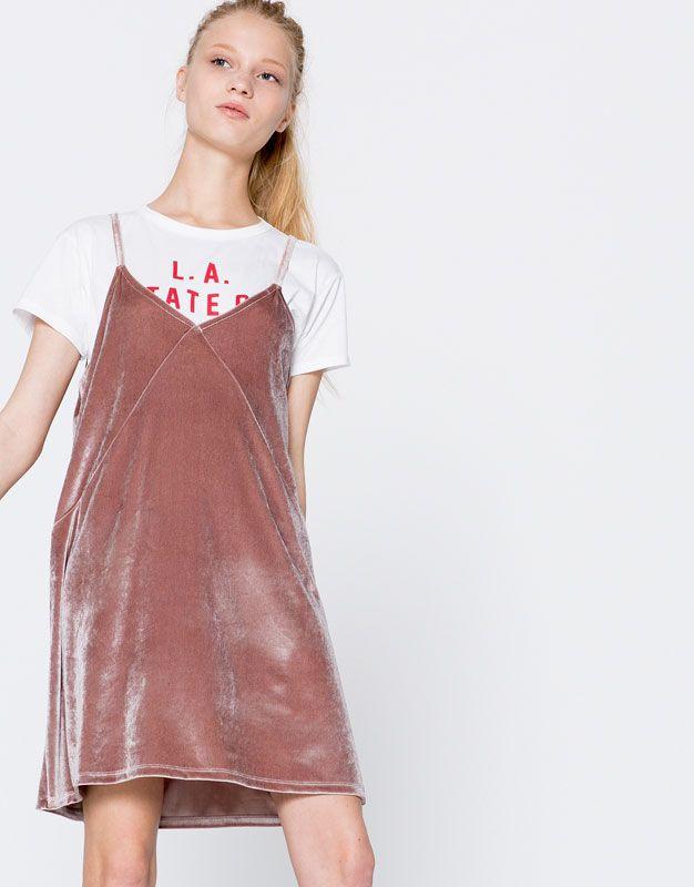 5d02b65cfd71 Vestido terciopelo tirantes | Dresses. en 2019 | Vestidos de ...