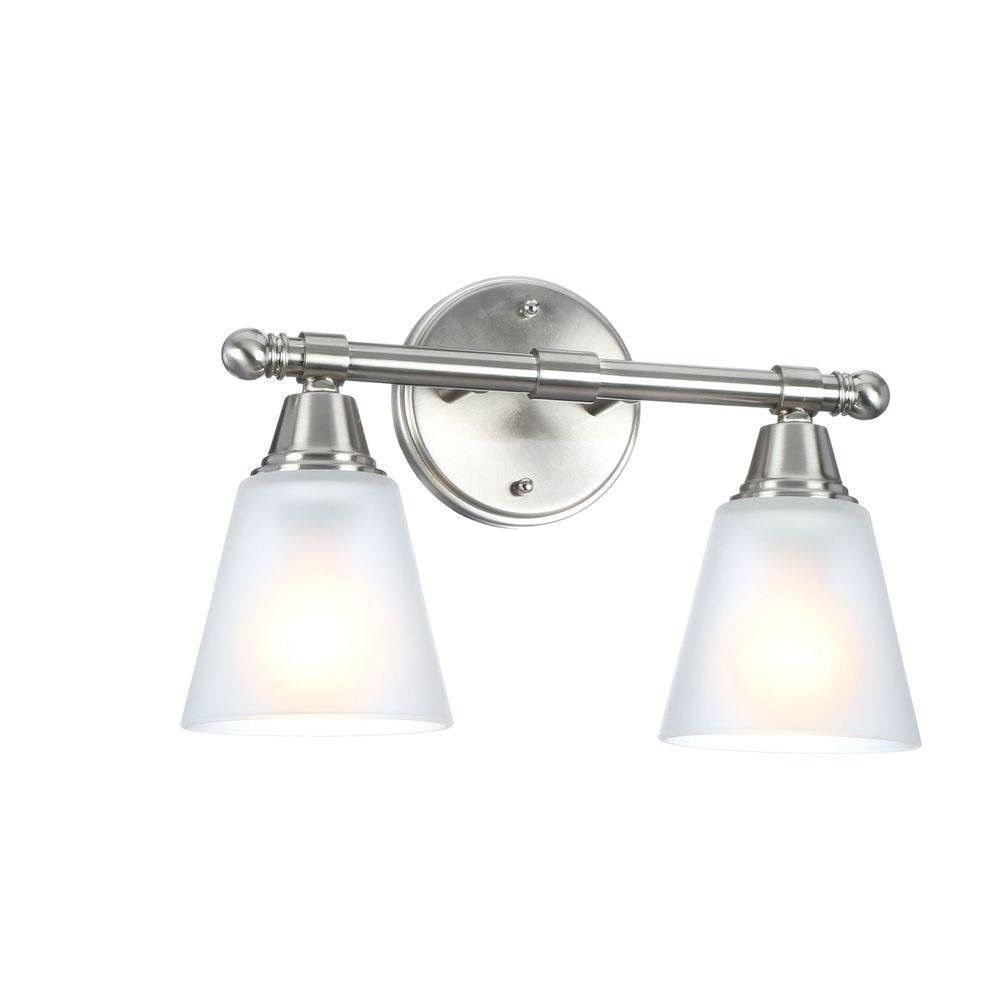 Ebay bathroom light fixture brushed nickel sconce wall mount ebay bathroom light fixture brushed nickel sconce wall mount vanity metal glass 2 new unbranded modern aloadofball Choice Image