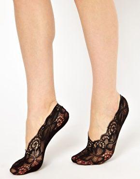 Peep lace socks