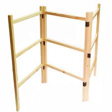 Wooden Clothes Laundry Horse Airer Maiden Dryer Hand Made Wooden Folding Home Clothes Horse Vintage Laundry Wooden