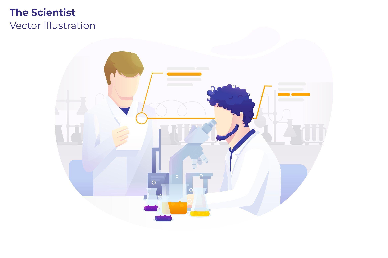 the scientist vector illustration vector illustration illustration vector the scientist vector illustration