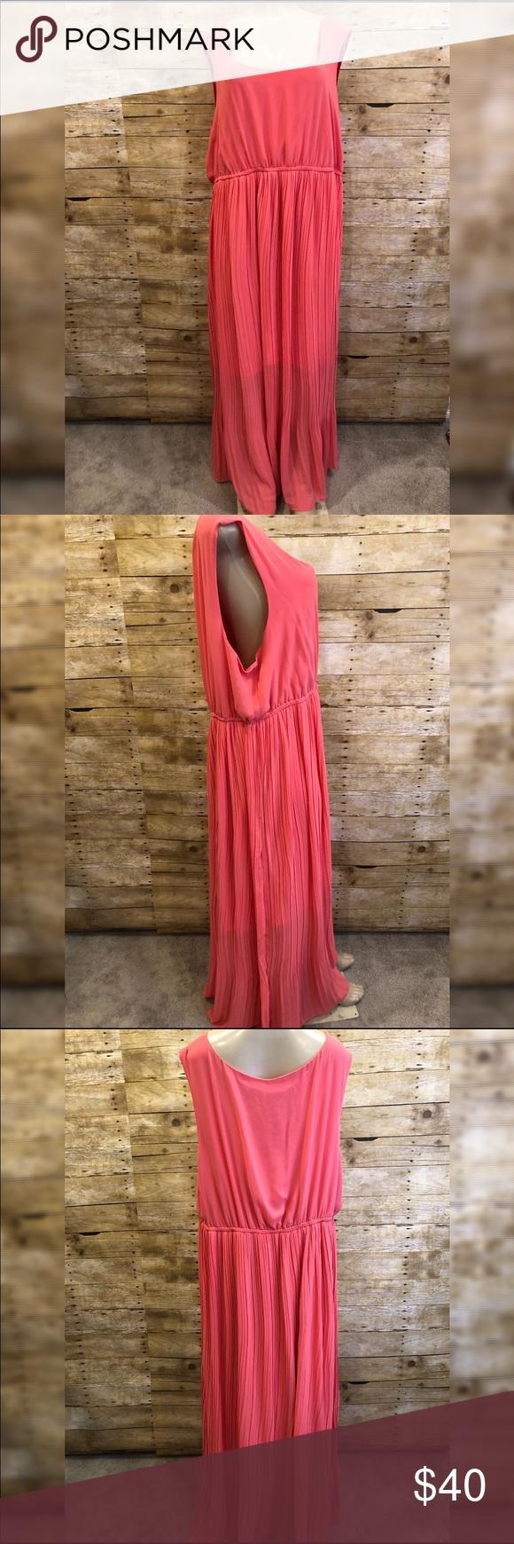 Torrid Coral Sleeveless Maxi Dress 4x Sleeveless Maxi Dress Maxi Dress Dresses [ 1740 x 580 Pixel ]