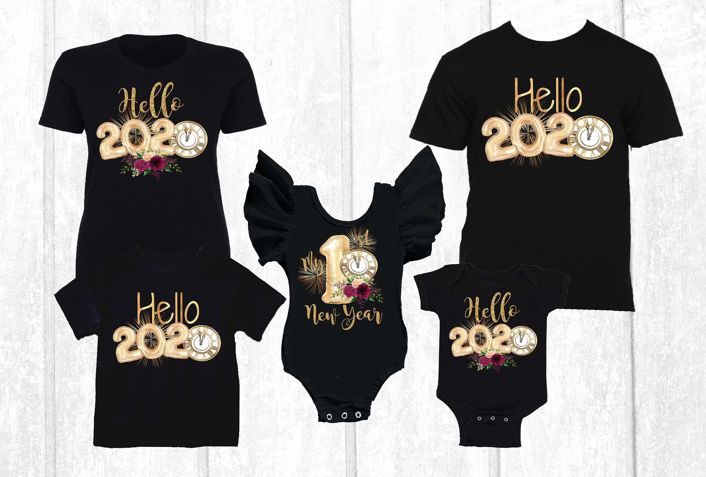 2021 New Year Family Shirts Hello 2021 Family Matching Etsy In 2020 New Years Shirts Family Shirts Matching Shirts