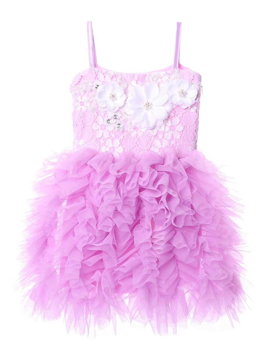Cilucu Girls Dress Kids Party Dress Toddler Tutu Pageant Beaded Lace Dresses for Flower Girl Baby Pink//White Gown Birthday